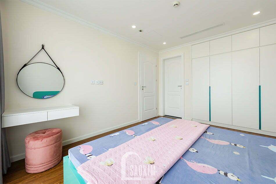 Thiết kế nội thất phòng ngủ Mastel chung cư Sunshine Garden 108m2