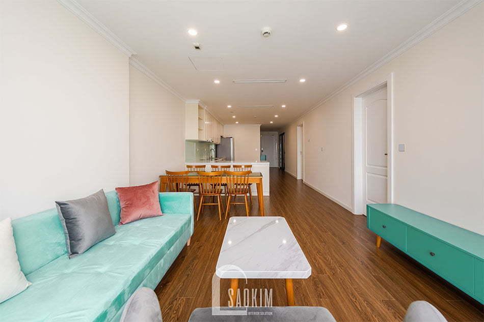 Mẫu thiết kế và thi công nội thất chung cư Sunshine Garden 108m2