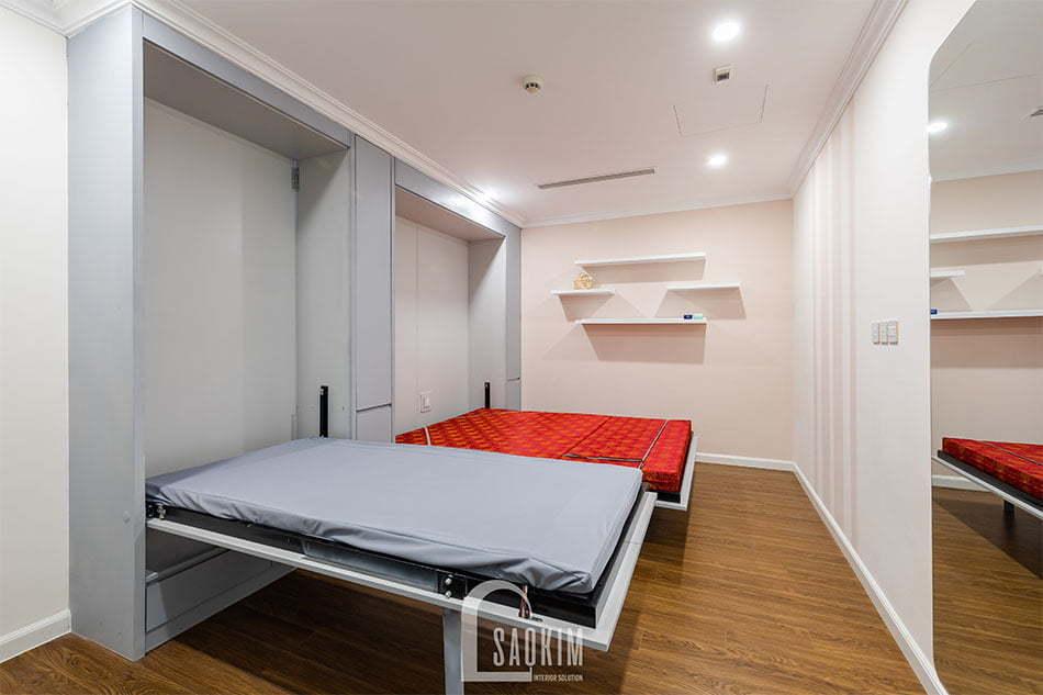 Thiết kế và thi công phòng đa năng thành phòng ngủ khi có khách đến nhà chơi