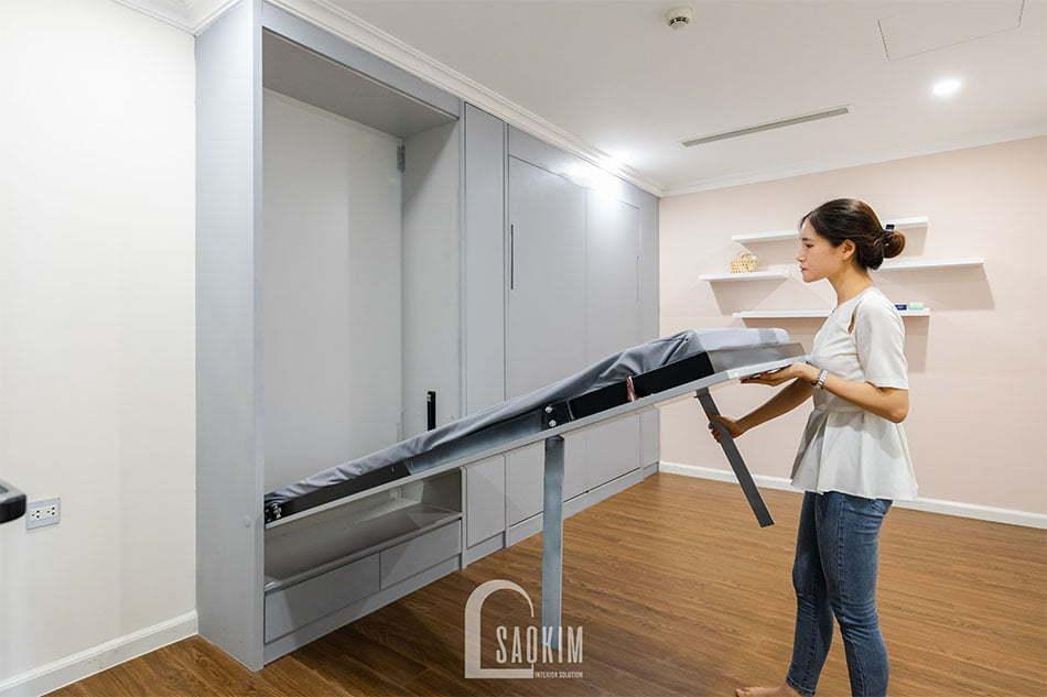 Lựa chọn giường tủ thông minh trong thiết kế chung cư Sunshine Garden