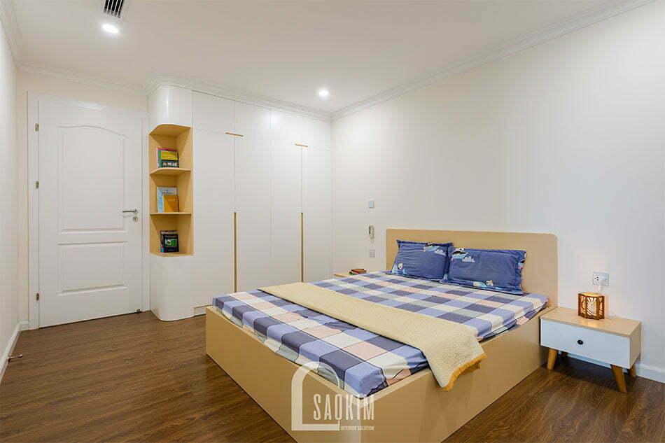 Phòng ngủ chung cư Sunshine Garden 108m2 tươi mới, trẻ trung