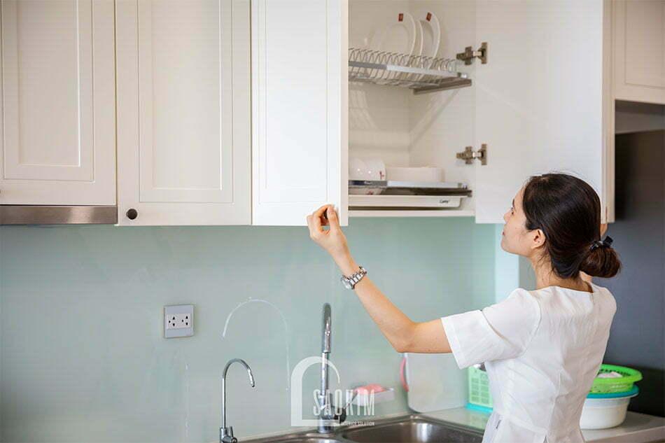 Nội thất bếp khoa học giúp gia chủ thuận tiên, dễ dàng sử dụng