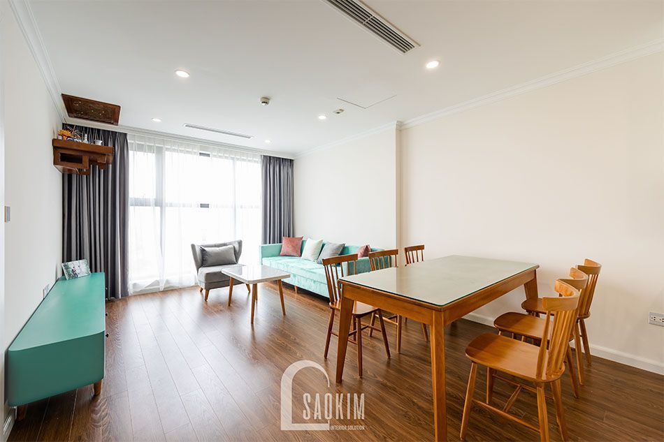 Thiết kế và thi công nội thất phòng ăn chung cư Sunshine Garden 108m2