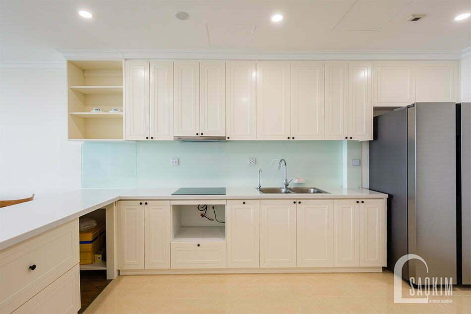Thiết kế và thi công nội thất phòng bếp chung cư Sunshine Garden 108m2