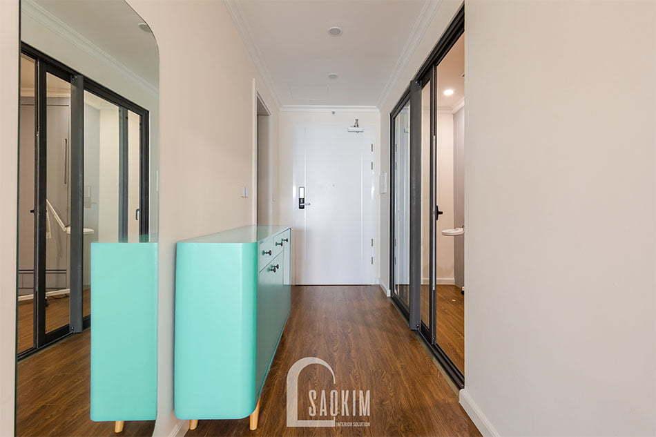Thiết kế và thi công nội thất tiền sảnh chung cư Sunshine Garden 108m2