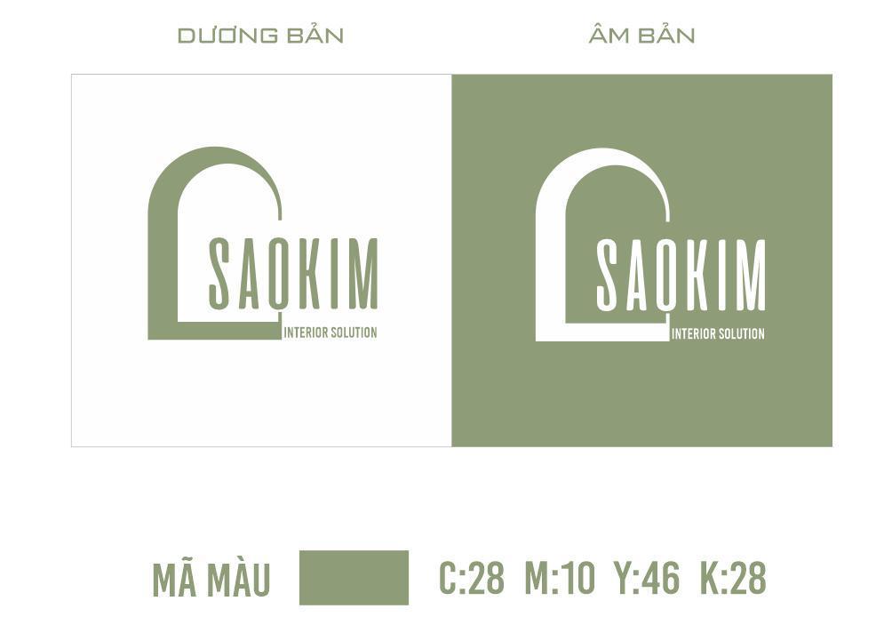 Logo nhận diện thương hiệu Công ty TNHH giải pháp nội thất Sao Kim