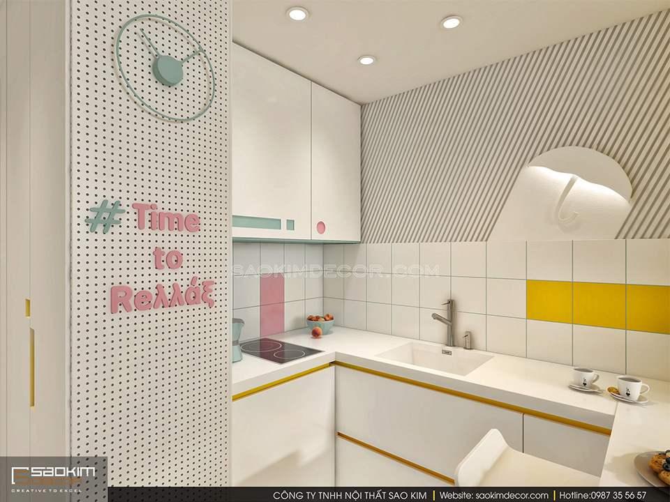 Thiết kế nội thất căn bếp tối giản mang nét hiện đại, tiện nghi
