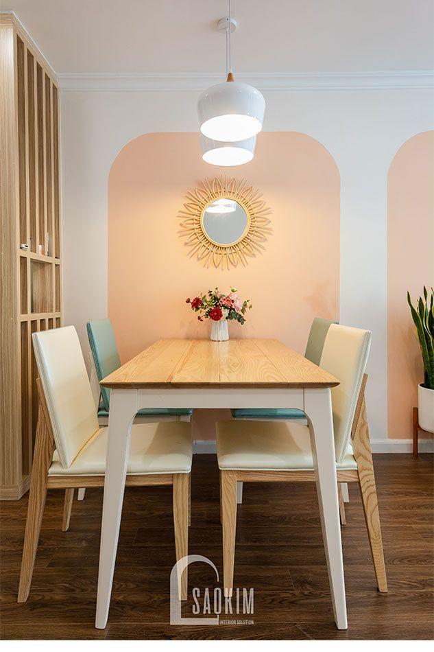 Thiết kế thi công nội thất bàn ăn chung cư Sunshine Garden đẹp nhẹ nhàng, cuốn hút