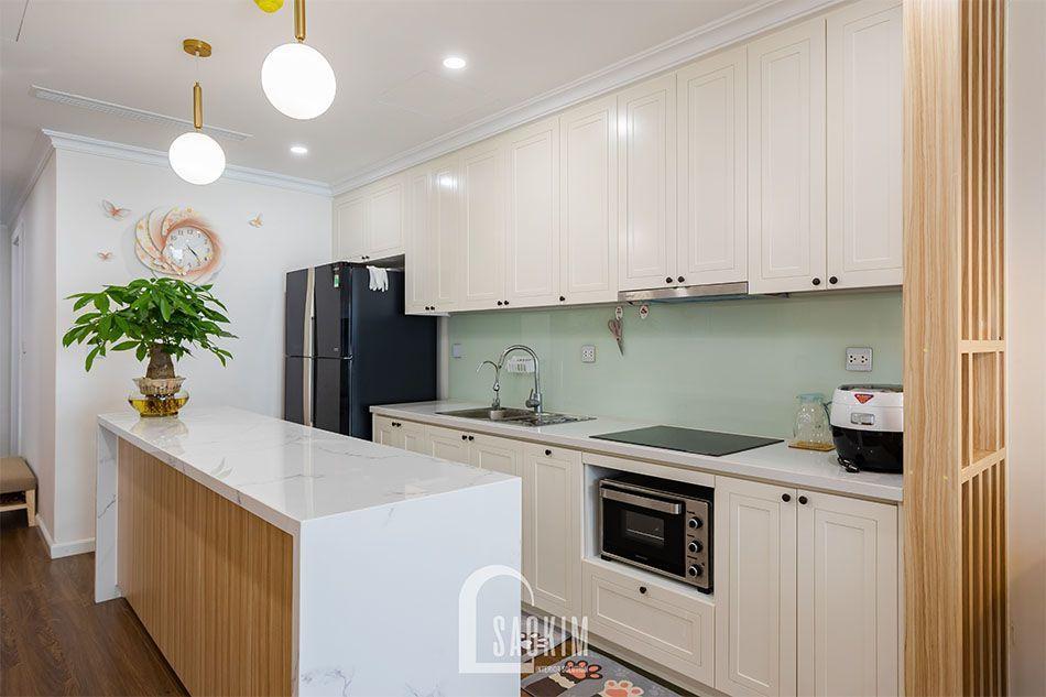Thiết kế và thi công phòng bếp chung cư Sushine Garden mang vẻ đẹp cuốn hút