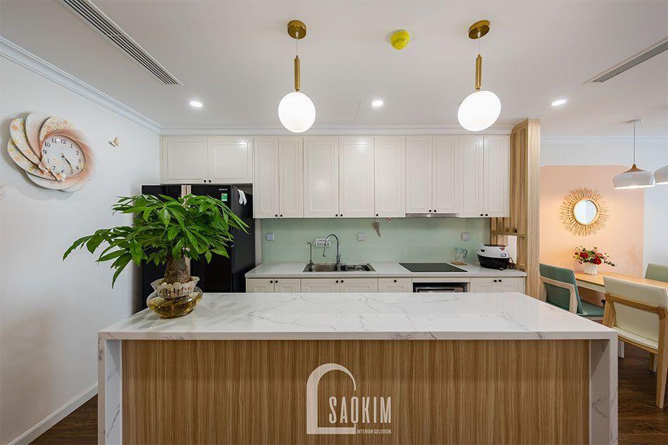 Thiết kế và thi công phòng bếp chung cư Sushine Garden