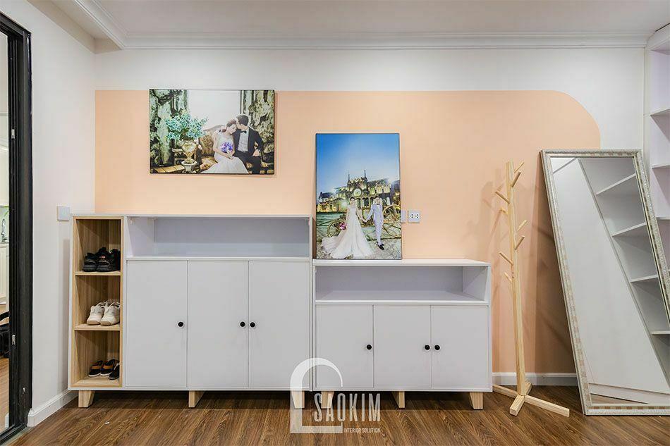 Thiết kế và thi công phòng thay đồ chung cư Sushine Garden