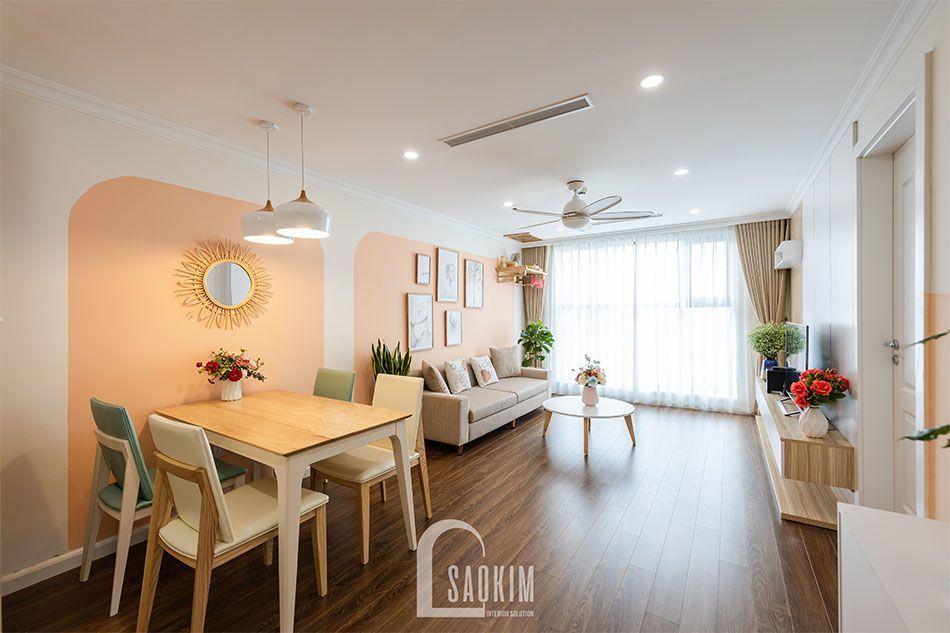 Thi công chung cư Sunshine Garden với không gian mở căn hộ trở nên rộng thoáng hơn