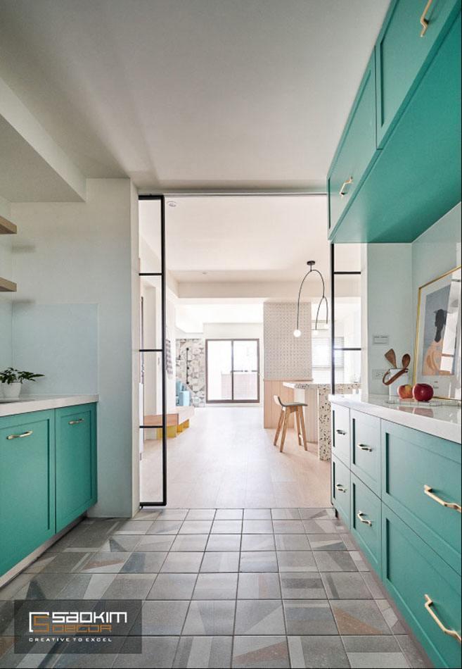 Thiết kế và thi công phòng bếp nhà phố tại Hà Đông