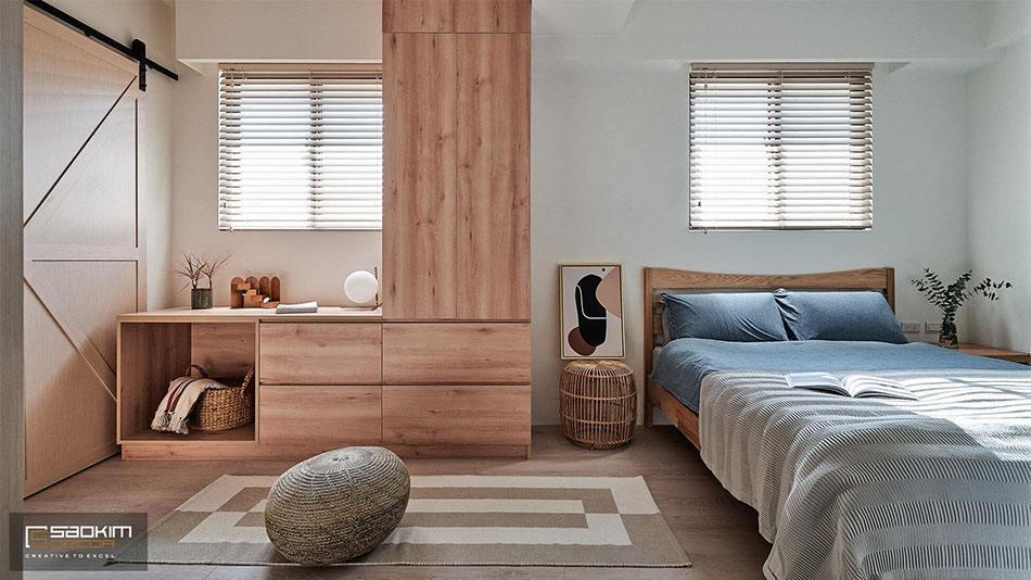 Thiết kế và thi công phòng ngủ nhà phố tại Hà Đông mang cảm giác mộc mạc, bình yên và ấm cúng