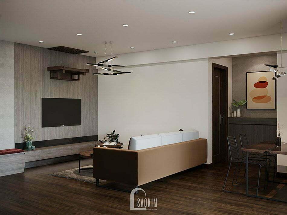 Lựa chọn nội thất gỗ công nghiệp cho mẫu thiết kế căn hộ đẹp rất được chú trọng