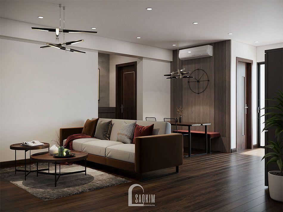 Mẫu thiết kế nội thất phòng khách chung cư đẹp KĐT Xa La