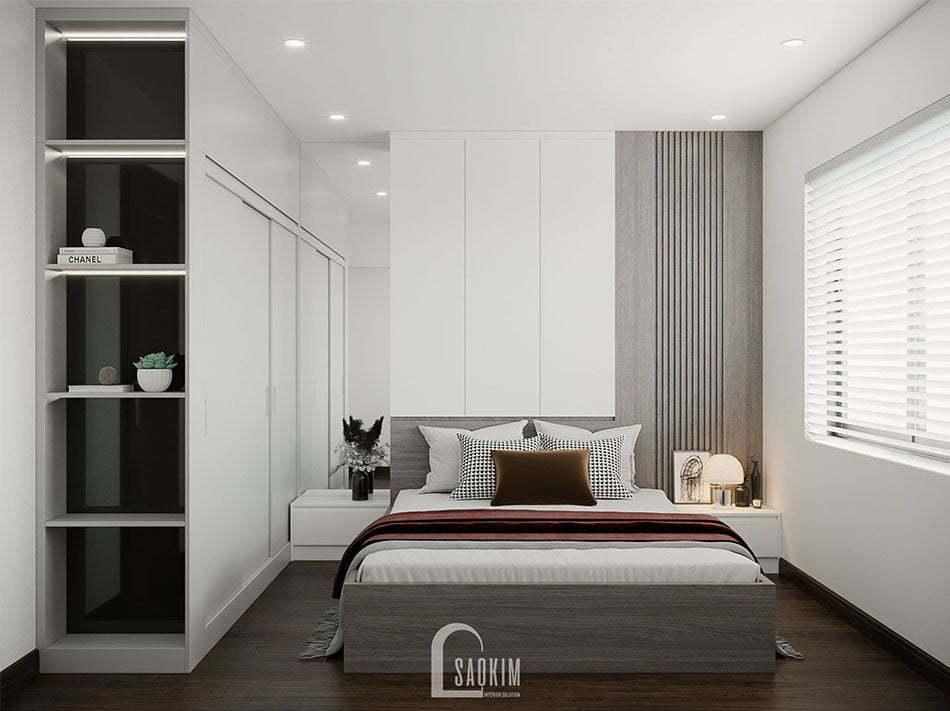 Mẫu thiết kế nội thất phòng ngủ Master chung cư đẹp KĐT Xa La