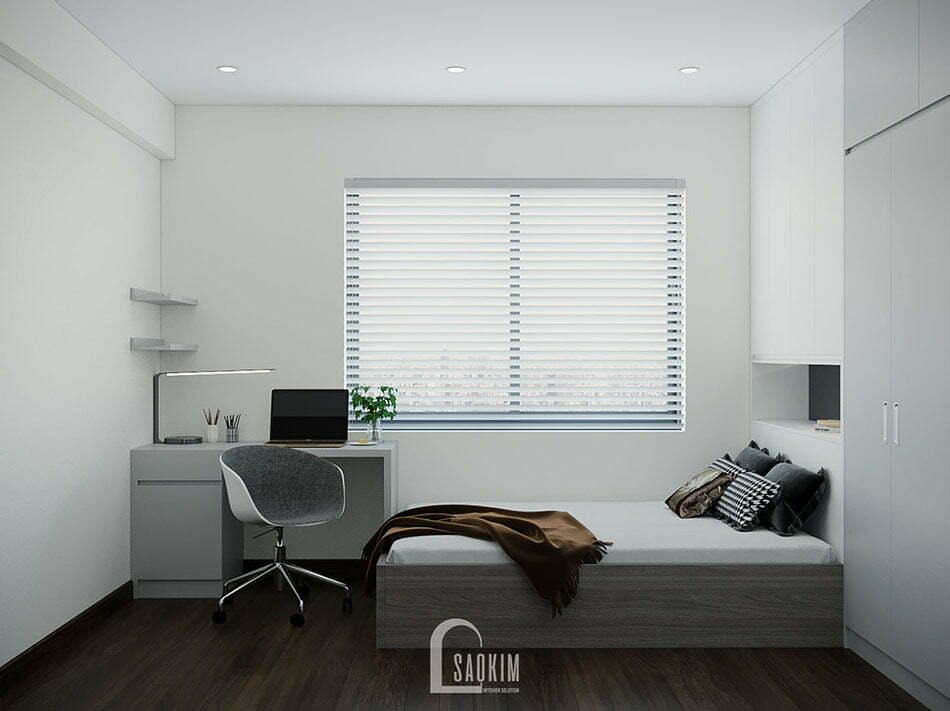 Không gian phòng ngủ 2 thoáng mát, thoải mái