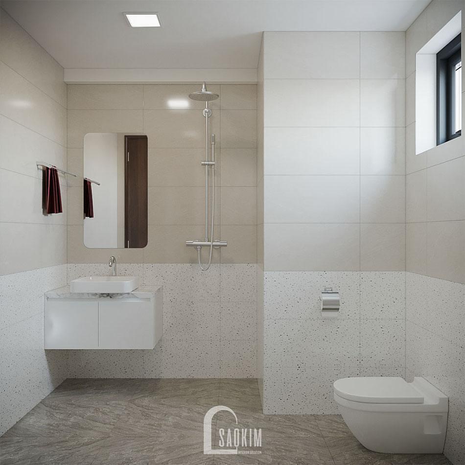 Mẫu thiết kế nội thất phòng tắm chung cư đẹp KĐT Xa La, Hà Đông