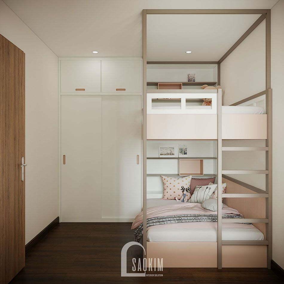 Thiết kế phòng ngủ cho bé đơn giản, thoải mái