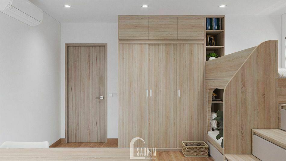 Mẫu thiết kế phòng ngủ 2 chung cư PCC1 Thanh Xuân
