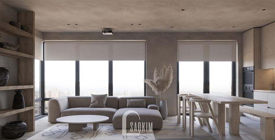 Mẫu thiết kế nội thất phong cách Wabi Sabi