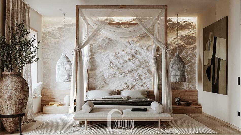 Màu sắc tự nhiên, chân thực trong thiết kế nội thất phong cách Wabi Sabi