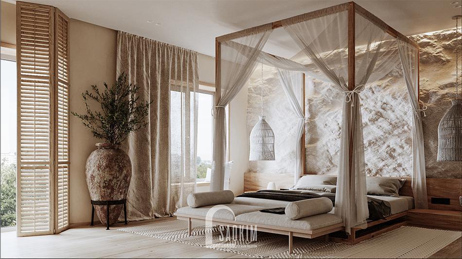 Kiểu dáng nguyên thủy tự nhiên chính là đặc điểm nổi bật trong phong cách nội thất Wabi Sabi