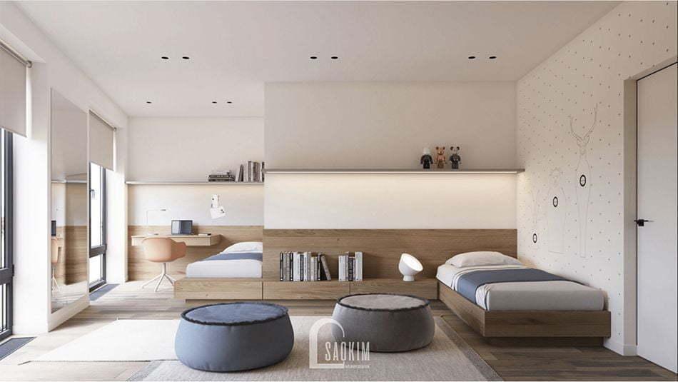 Mẫu thiết kế nội thất phong cách Wabi Sabi hướng tới sự cân bằng giữa chất liệu hữu cơ với thiên nhiên