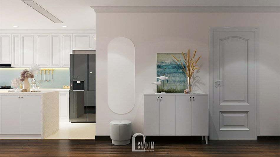Mẫu thiết kế nội thất khu vực tiền sảnh rộng thoáng, thoải mái