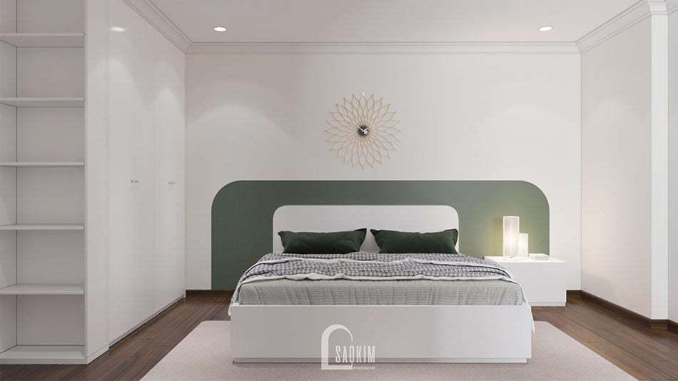Mẫu thiết kế thi công nội thất phòng ngủ Master căn hộ chung cư Sunshine Garden 85m2
