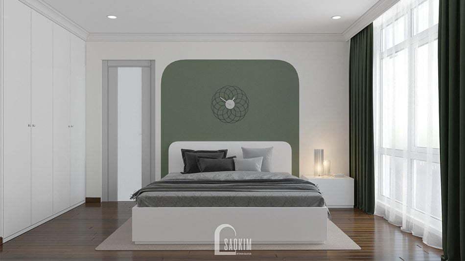 Mẫu thiết kế thi công nội thất phòng ngủ 2 căn hộ chung cư Sunshine Garden 85m2
