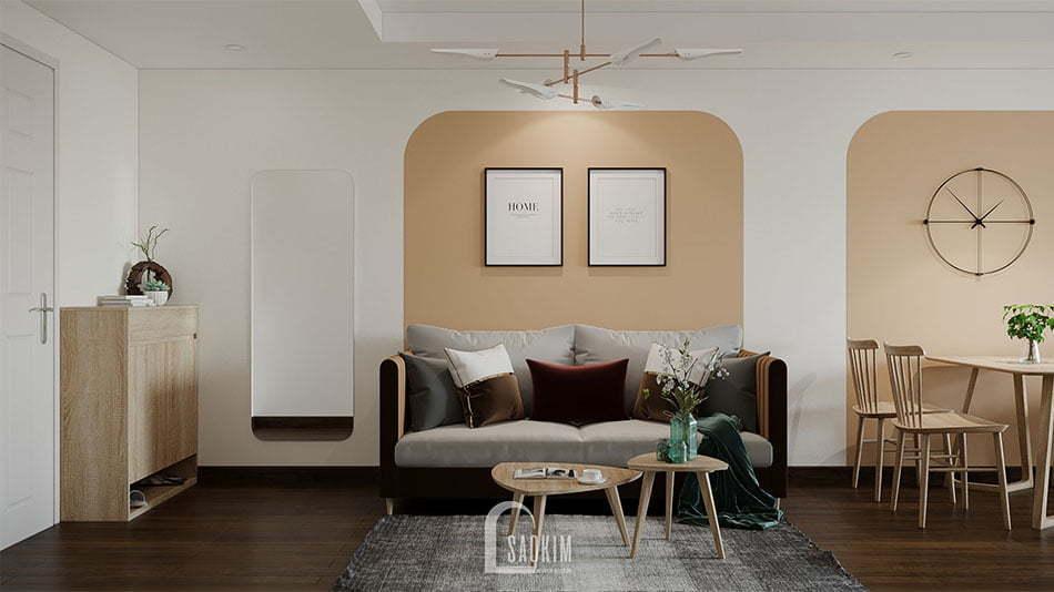 Cải tạo nhà chung cư cũ khu đô thị Linh Đàm 65m2 theo phong cách Color block