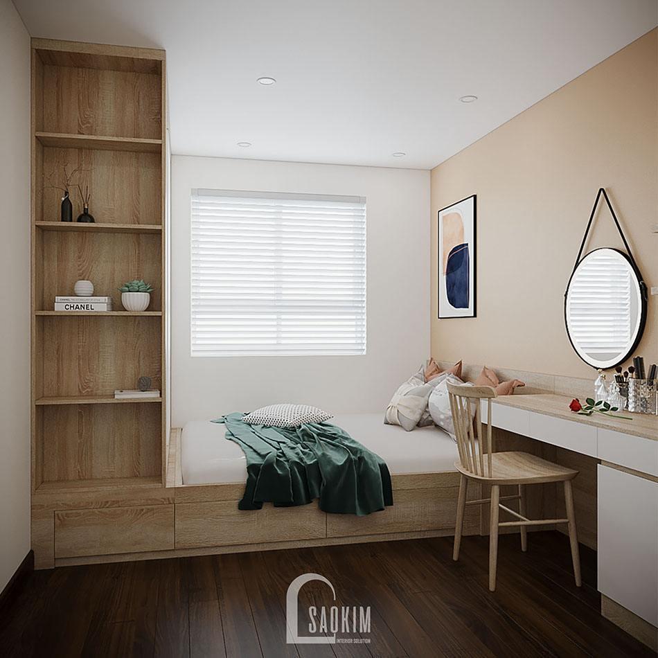 Không gian phòng ngủ mang đến cảm giác thoải mái, thư giãn cho gia chủ