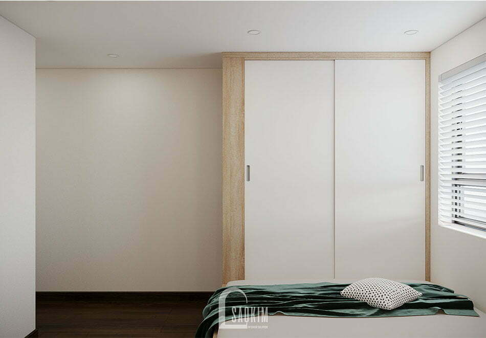 Thiết kế nội thất phòng ngủ đơn giản, tiện nghi