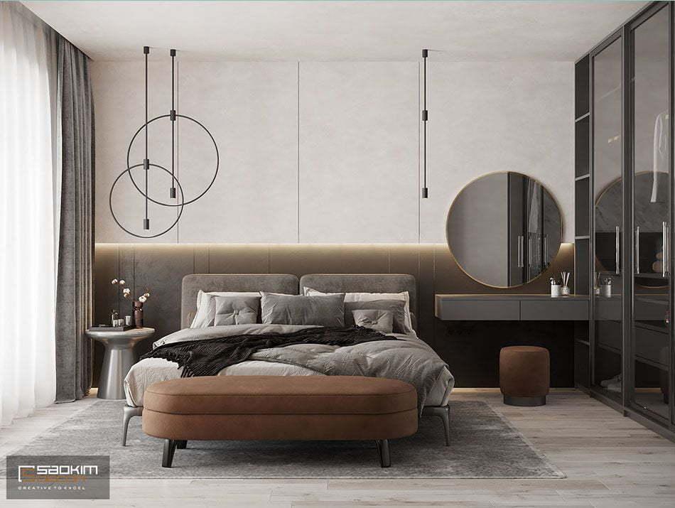 Hình ảnh mẫu thiết kế phòng ngủ chung cư đẹp 2020