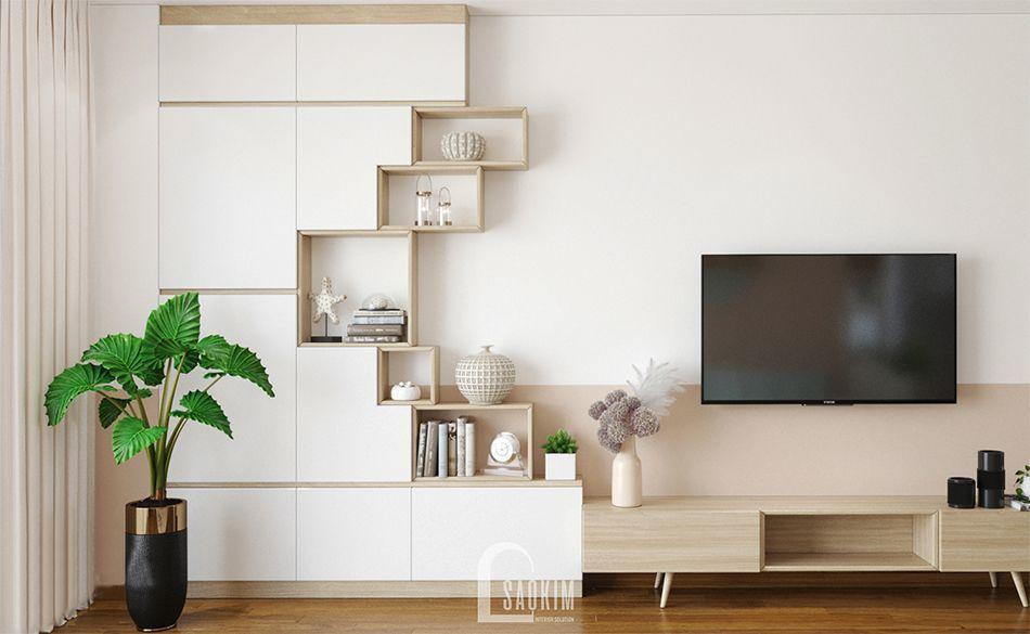 Mẫu thiết kế nhà chung cư 65m2 Imperia Garden phong cách Color Block