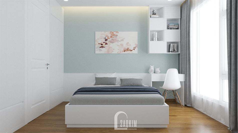 Mẫu thiết kế nhà chung cư 2 phòng ngủ thoải mái, thư giãn