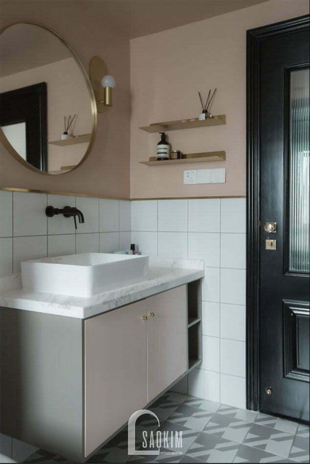 Không gian phòng tắm chung cư 2 phòng ngủ+1 Vinhomes Smart City
