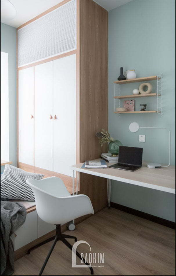 Thiết kế nội thất phòng ngủ 2 khoa học, thông minh