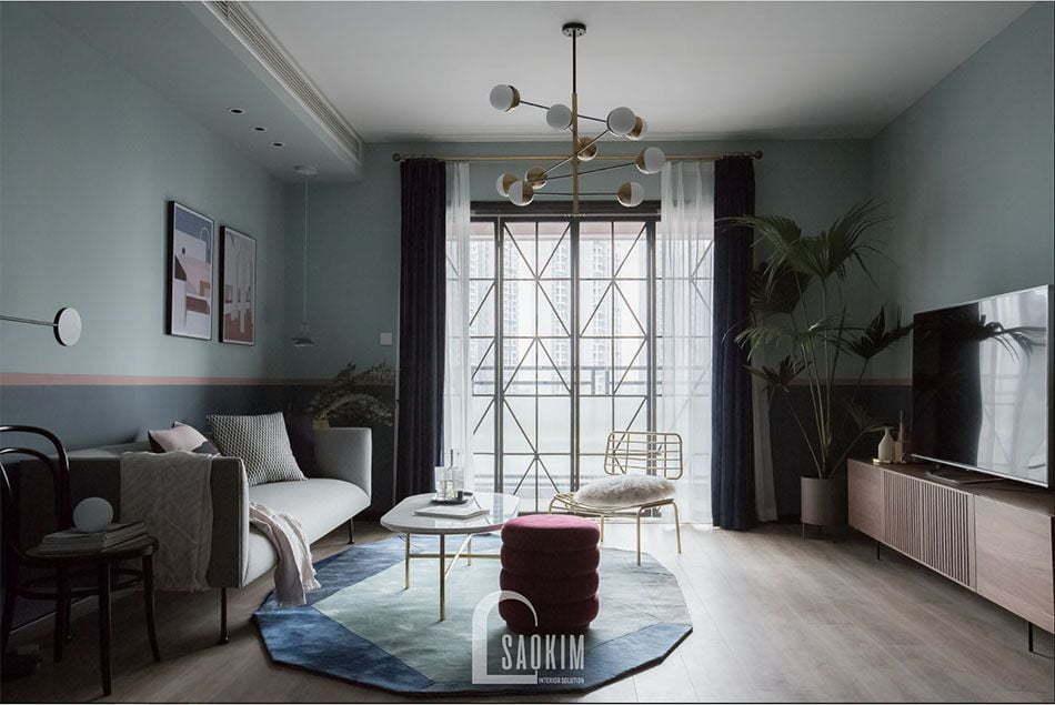 Hình ảnh hoàn thiện căn hộ chung cư 2 phòng ngủ +1 Vinhomes Smart City