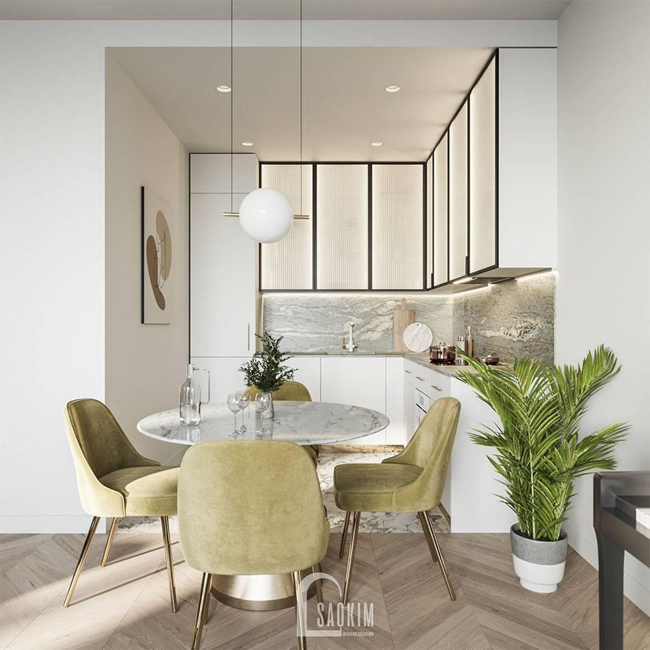 Không gian phòng ăn và bếp hiện đại, tiện nghi