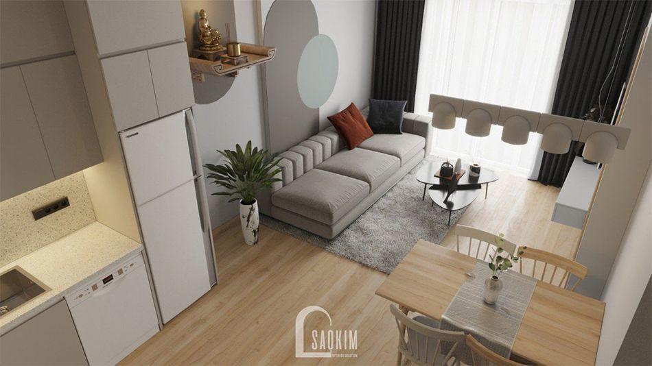 Không gian phòng khách tối giản, sang trọng