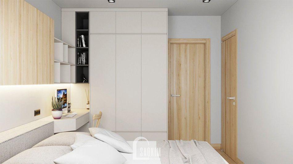 Không gian phòng ngủ thoáng mát, tươi mới