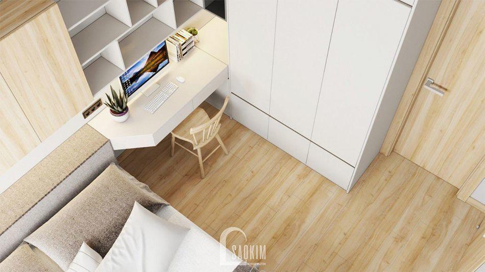 Không gian phòng ngủ Master mang đậm phong cách minimalism kết hợp phong cách Color Block