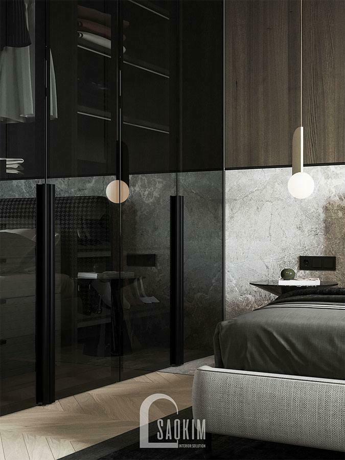Nội thất phòng ngủ hiện đại, thông minh được đầu tư kỹ lương mang đến vẻ đẹp sang trọng, quý phái