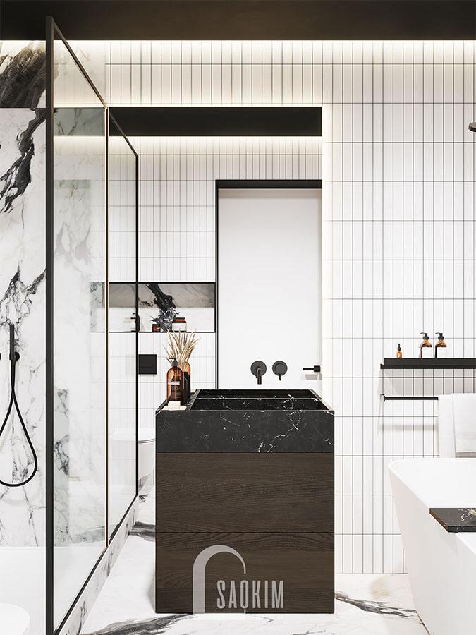 Thiết kế nội thất phòng tắm 1