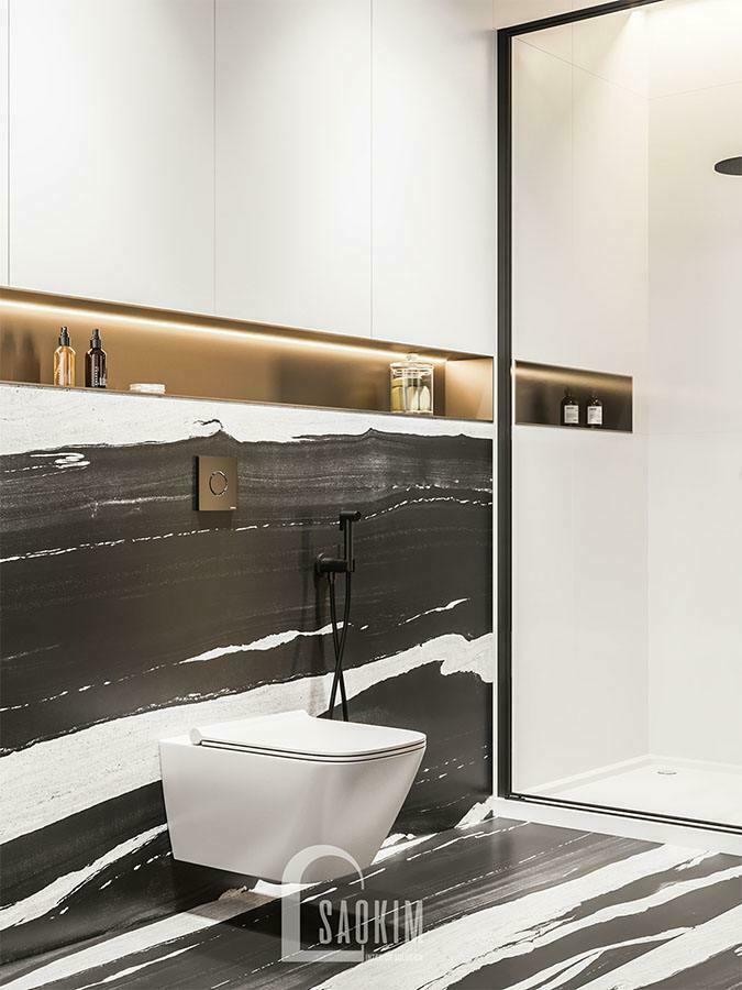 Thiết kế nội thất phòng tắm chung cư Yên Hòa Sunshine