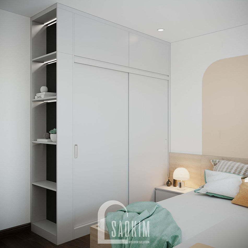 Mẫu căn hộ 80m2 Eco Home 3 đẹp với phong cách thiết kế Color Block