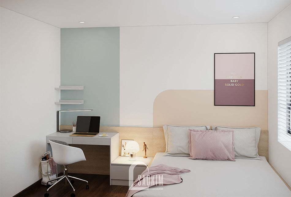 Không gian phòng ngủ 2 nhẹ nhàng mang đến cảm giác thư giãn, dễ chịu